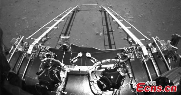 China's Tianwen-1 probe sends back Mars landing visuals