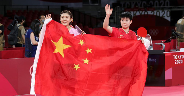 China harvests Olympic gold, silver in table tennis women's singles