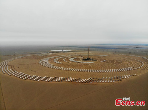 Molten salt solar plant in smooth progress
