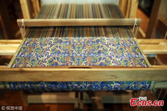 Museum creates replica of ancient brocade