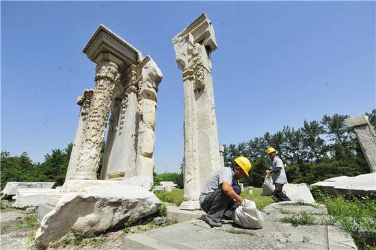 Old Summer Palace stones to be reinforced