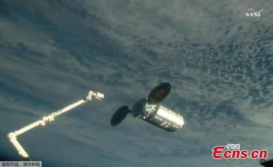 Cygnus cargo ship delivers supplies to ISS
