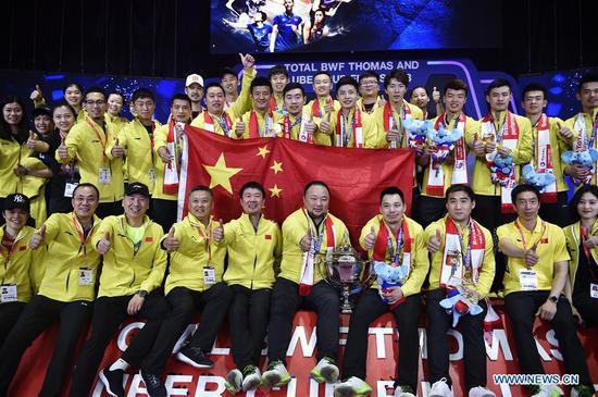 China beats Japan 3-1 to win Thomas Cup