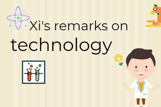 Xi's remarks on technology