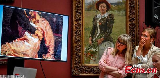 Repin's Ivan The Terrible painting damaged by vandal