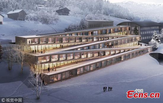 Zig-zag ski hotel planned in Switzerland