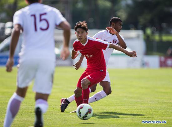 China earns late draw with Qatar in 2018 Toulon Tournament