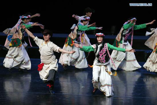 Folk dance show of SCO art festival held in Beijing