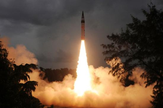 India successfully test-fires nuclear capable Agni-V ballistic missile