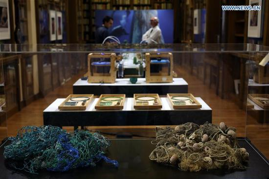 Ghost nets turned products raise awareness on marine pollution at Athens exhibition