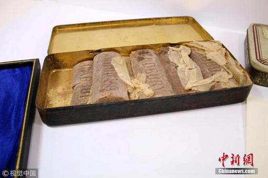 103-year-old chocolate found in WWI soldier's tin box