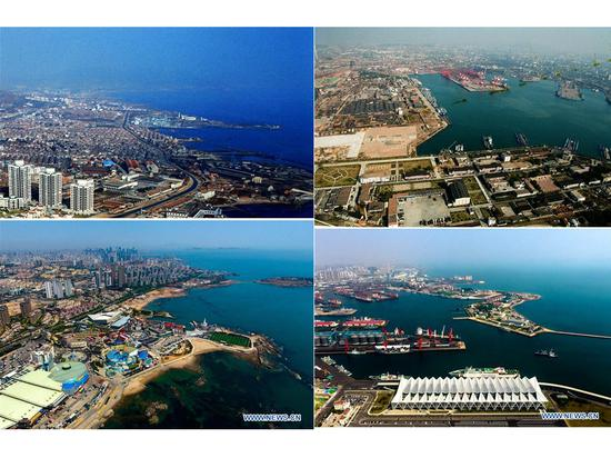Then and now: aerial views of China's Qingdao