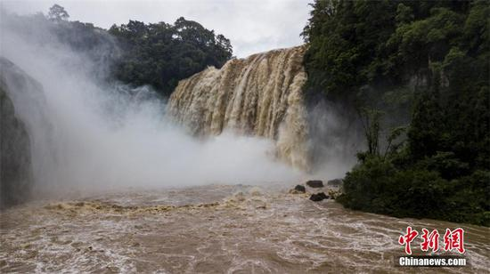 Huangguoshu Waterfall records biggest flow of the year