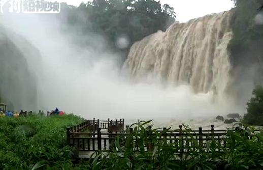Huangguoshu Waterfall sees biggest flow this year