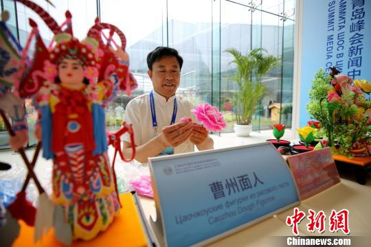 Chinese culture featured in SCO summit press center