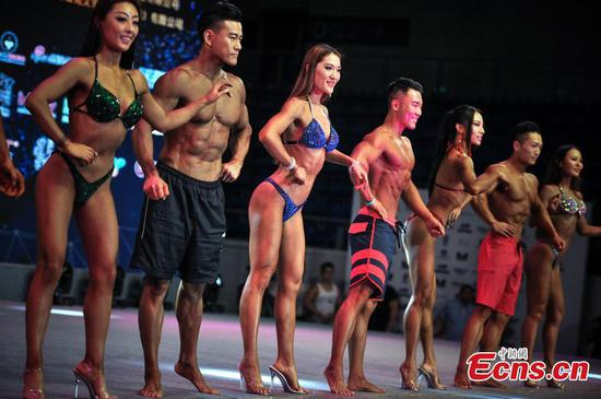 All muscles in bodybuilding championships
