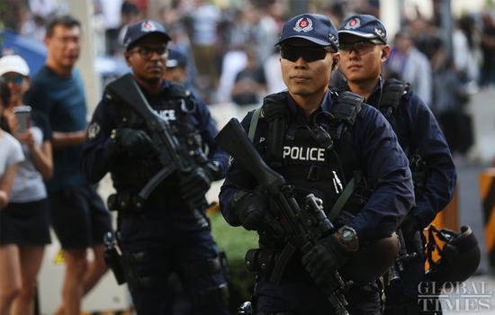 Singapore police prepare for Kim-Trump summit