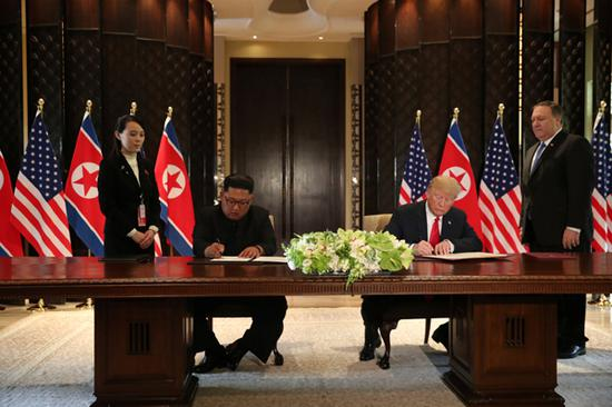 Kim, Trump sign 'important' document