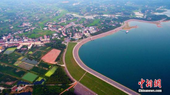 Biggest earth-filled man-made dam in Asia