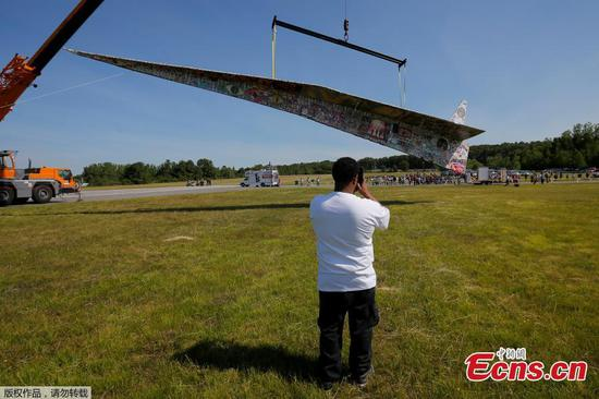 64-foot-long paper airplane aims to break world record