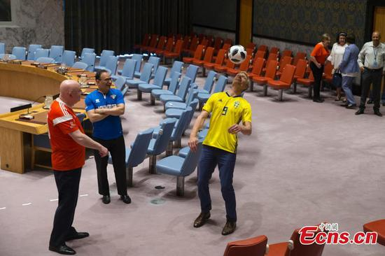 UN Security Council celebrates World Cup