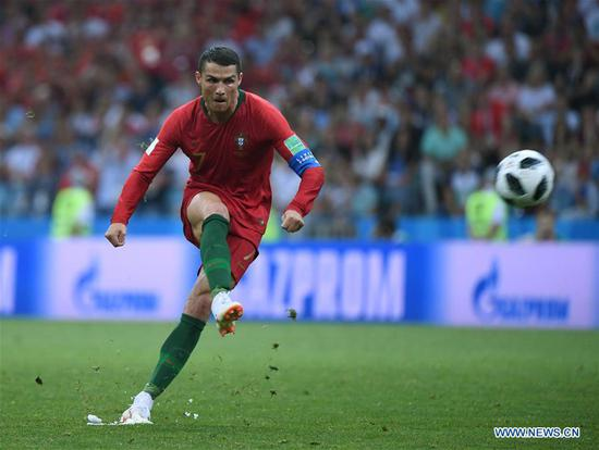 Ronaldo scores a hat-trick as Portugal draws 3-3 against Spain