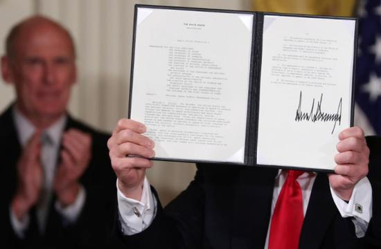 Trump orders for Pentagon to create 'Space Force'