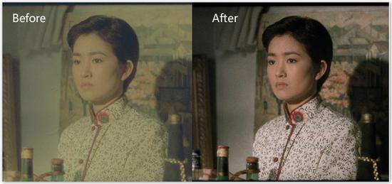 "A comparison of a still from ""Soul of a Painter"" after 4K restoration. /Photo from siff.com"
