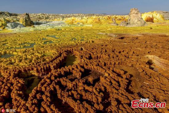 Stunning images of acid pools near Erta Ale volcano