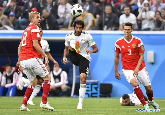 Russia upsets Egypt 3-1