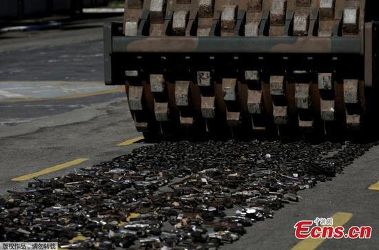 Brazilian army destroys more than 8,000 guns