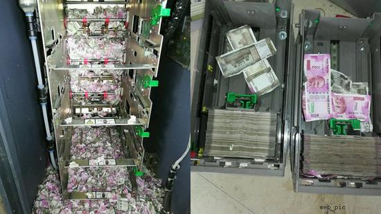 Mice shred Indian currency notes in unused ATM