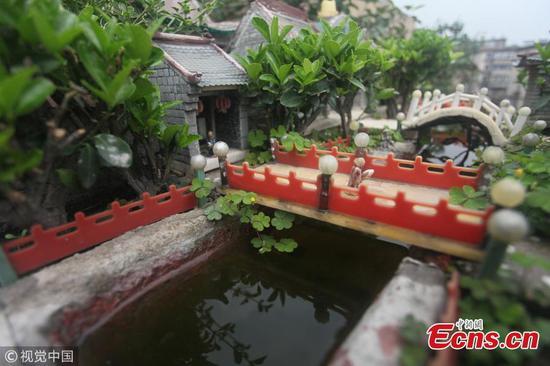 Retiree makes 200 miniature creations with chopsticks