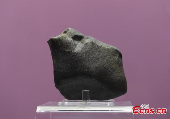 4.5-billion-year-old meteorite on show in Hangzhou