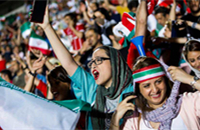 Iranian women allowed in soccer stadium for the first time in 37 years