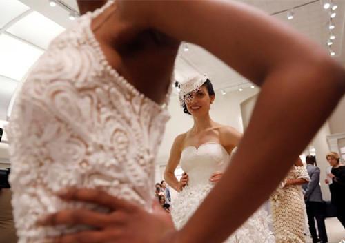 Toilet paper wedding dress in Manhattan