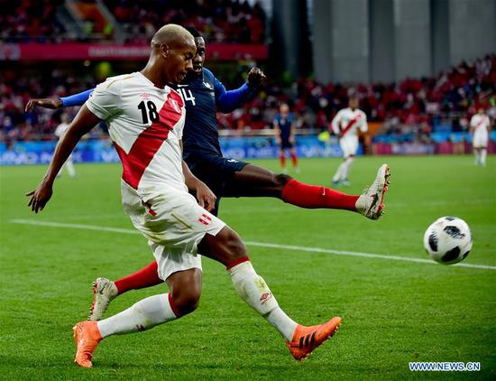 Mbappe's goal gives French 1-0 win over Peru in World Cup Group C match