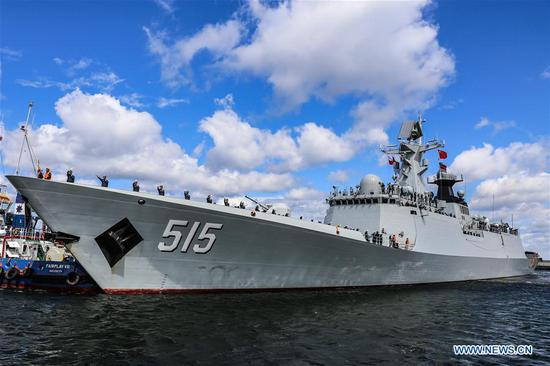 Chinese frigate 'Binzhou' starts five-day visit to Poland
