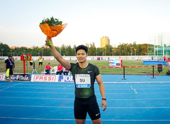 China's top sprinter Su Bingtian ran his career-best time, in the 100m event last week. China's efforts to adopt advanced training methods and send athletes to overseas training and competition have started to bear fruit. (Photo/Xinhua)