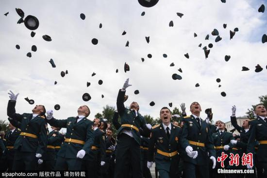Graduation ceremony at Novosibirsk Military Institute