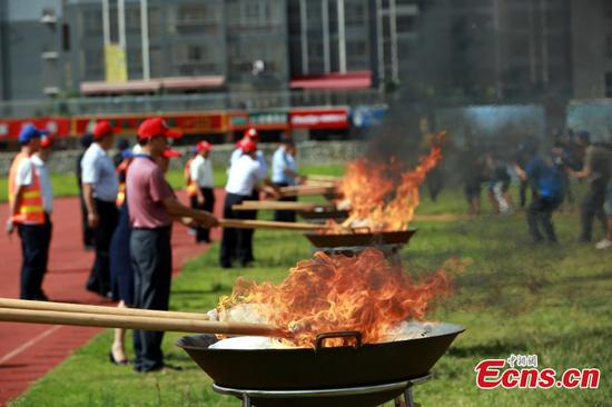 Guangxi police destroy 40kg drugs