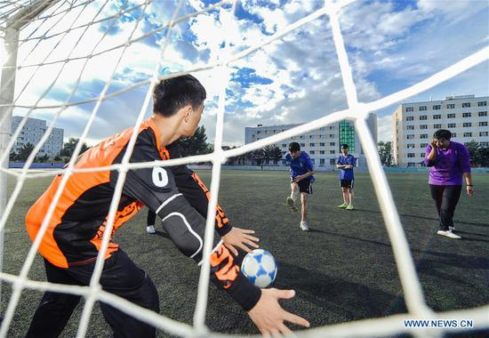 Visually impaired students' love for football