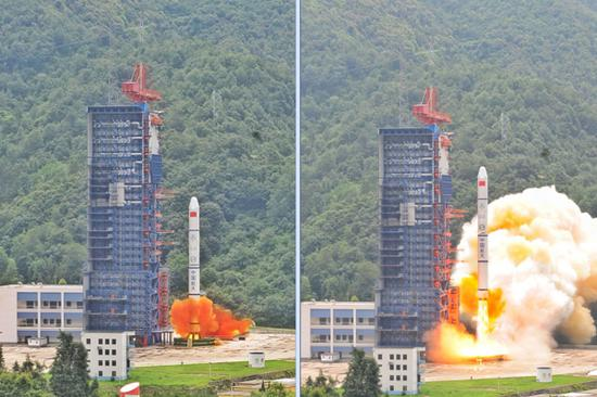 China successfully launches double satellites in one rocket