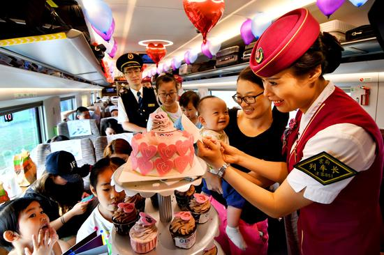 Fuxing high-speed bullet train turns one-year-old