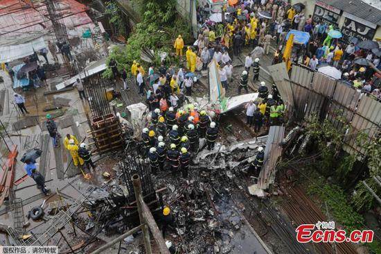 Five killed after Indian plane crashes in Mumbai district