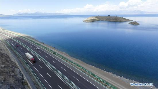 Scenery of Sayram Lake in China's Xinjiang