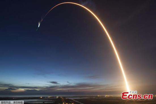 SpaceX的Falcon 9火箭将Dragon太空船发射到国际空间站