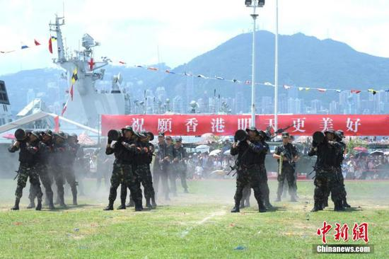 PLA garrison in Hong Kong marks return anniversary