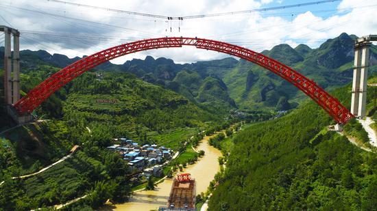 最长跨度的拱桥达到贵州新的里程碑