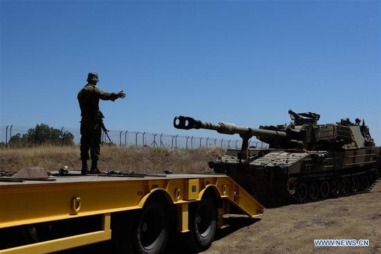 以色列国防军在戈兰高地部署额外的坦克和大炮
